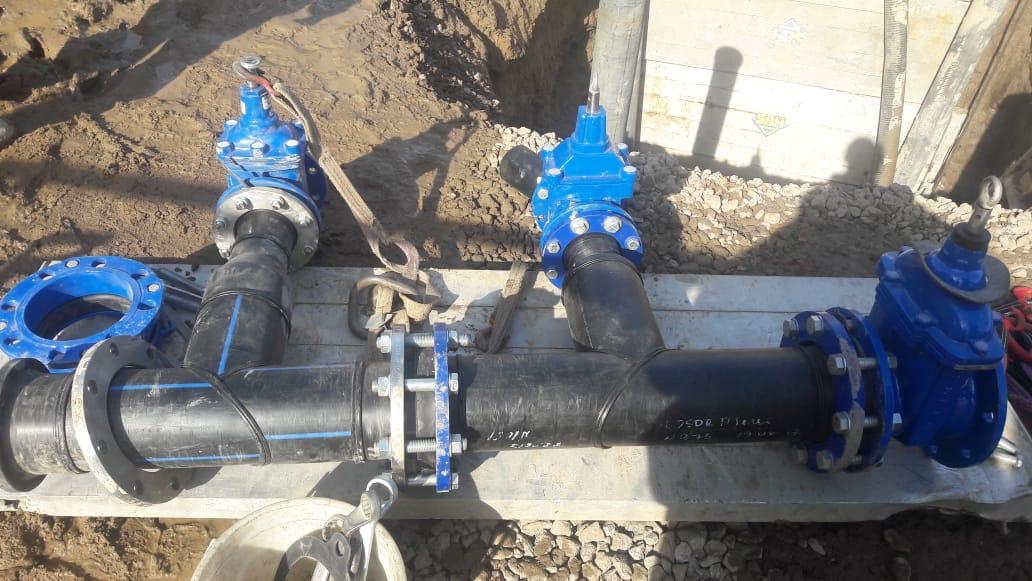 Сети водопровода и канализации по адресу: г. Санкт-Петербург, Петергофское шоссе